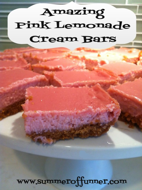 amazing pink lemonade cream bars