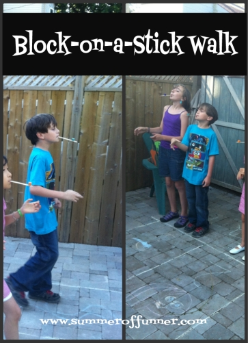 Block-on-a-Stick-Walk Game