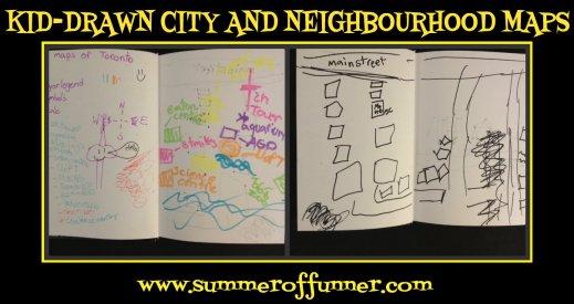 Kid-Drawn City and Neighbourhood Maps by summeroffunner dot com