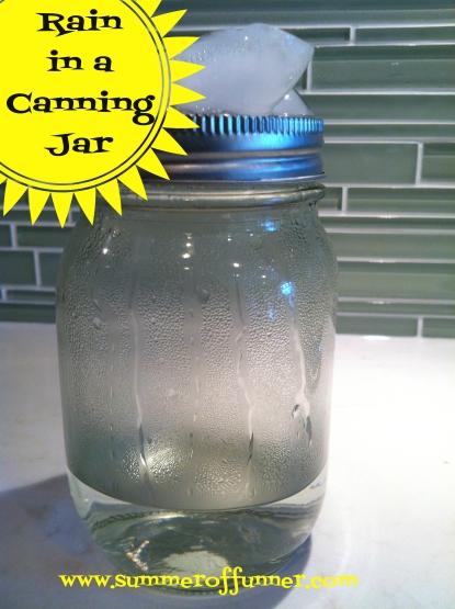 rain in a canning jar