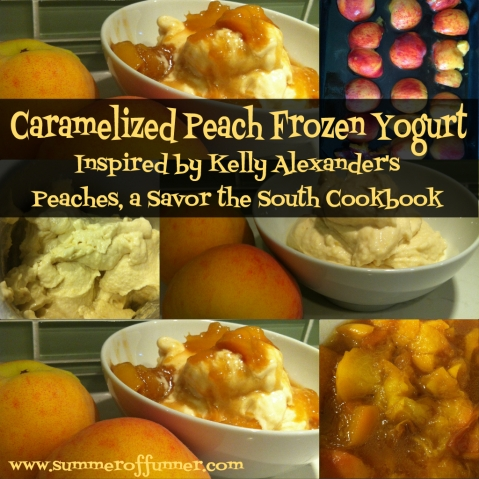 caramelized peach frozen yogurt inspired by kelly alexander's peaches a savor the south cookbook