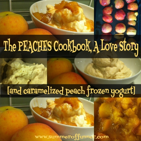 The peaches cookbook a love story and caramelized peach frozen yogurt