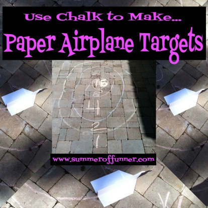 Use Chalk to Make Paper Airplane Targets